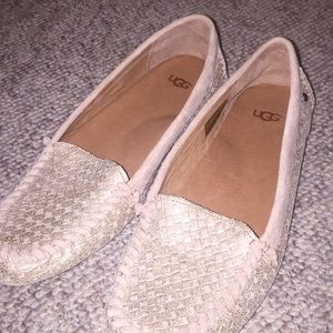Ugg metallic moccasin slipper